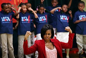 First Lady Promotes Youth Exercise With Olympians