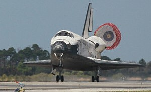 Space Shuttle Discovery Returns From Its Final Mission To Int'l Space Station