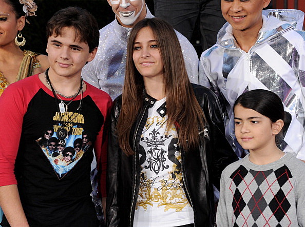 Prince Jackson, Paris Jackson and Blanket Jackson
