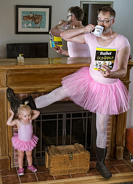 dad and ballerina