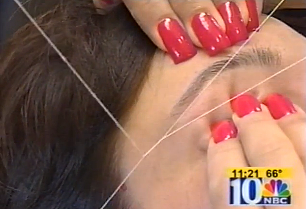 eyebrow threading video