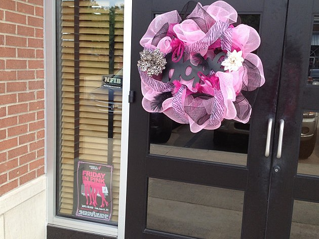 pink hope wreath