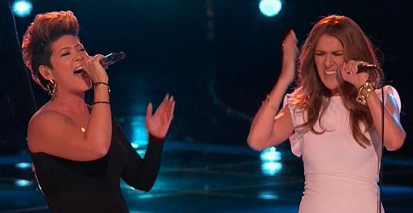 Tessanne Chinn with Celine Dion